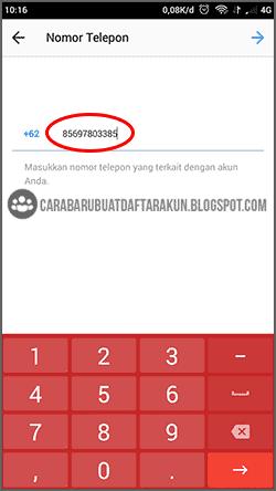 cara reset password instagram