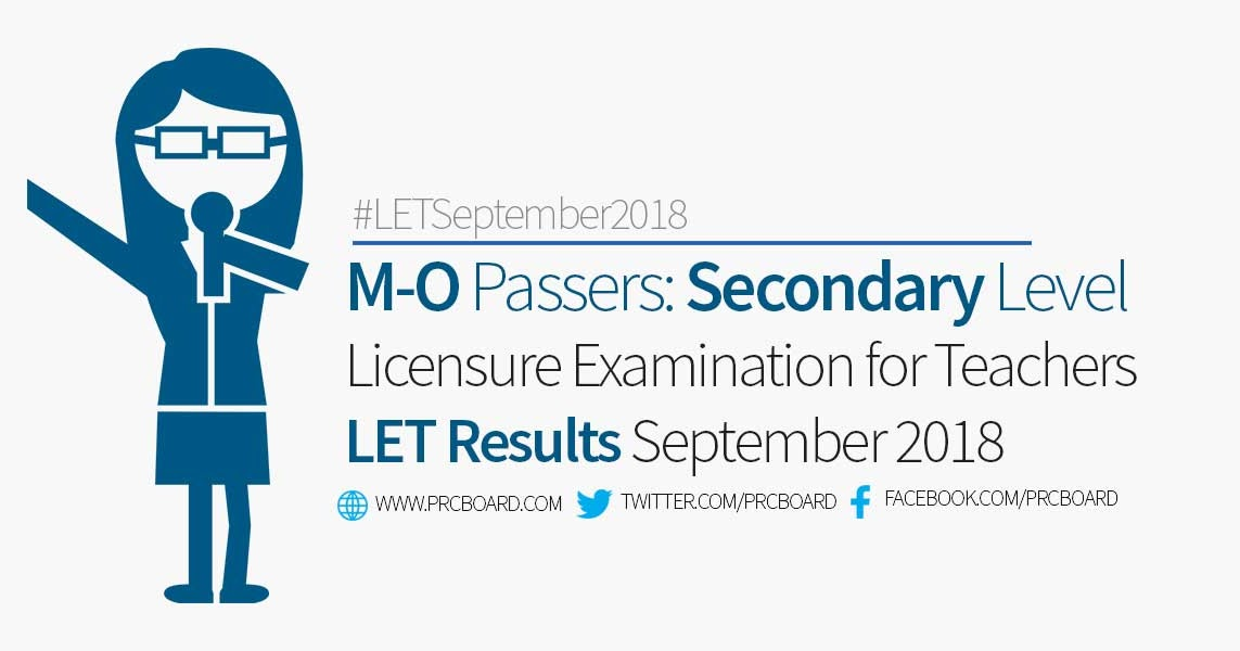 M O Let Passers Secondary September 2018 Teachers Board Exam