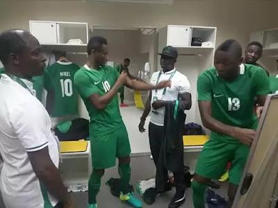 Nigerian Team in the rio olympics dressing room