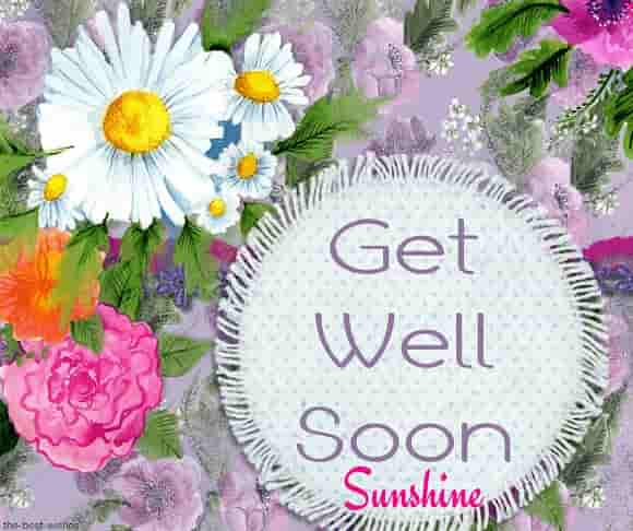 get well soon sunshine