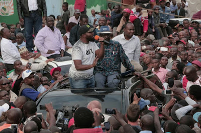 Raila Odinga and Hassan Joho in Machakos. PHOTO | FILE