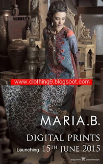 Mariab Digital Eid Lawn Collection 2015