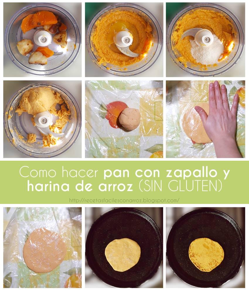 receta pan sin gluten con zapallo fototutorial