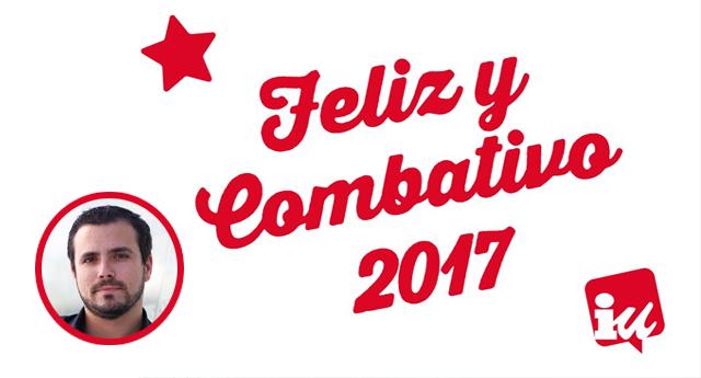Alberto Garzón: Feliz y combativo 2017