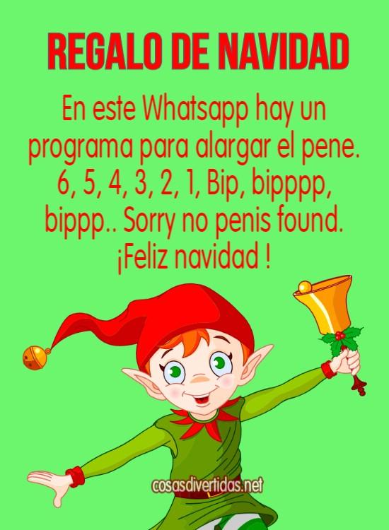 WhatsApp divertidos para Navidad