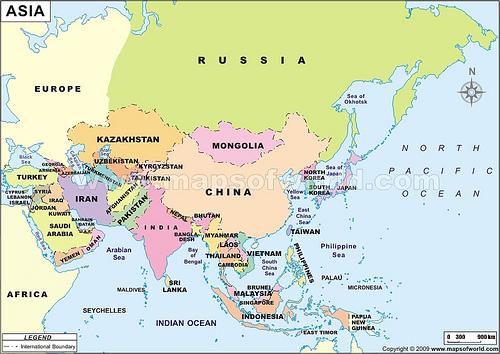 Negara negara di benua Asia  Belajar com