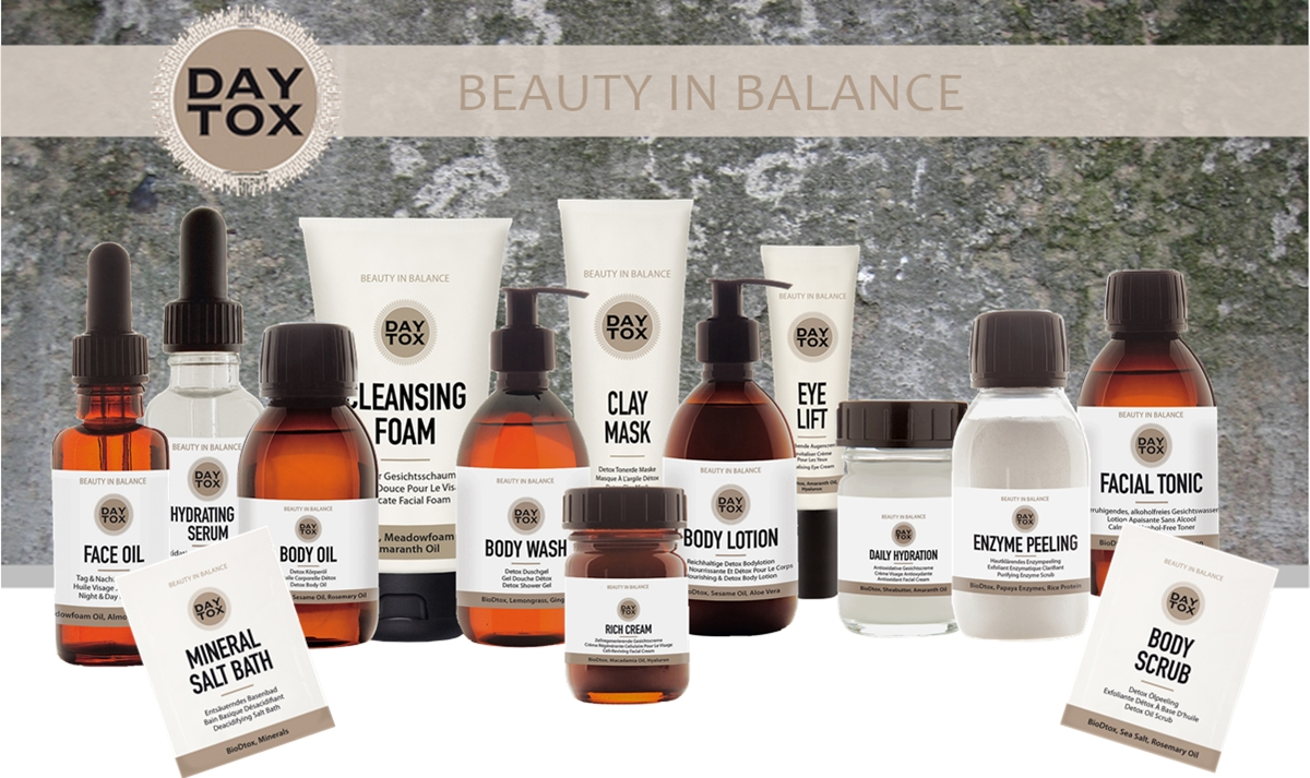 DAYTOX - BEAUTY in BALANCE all products overview