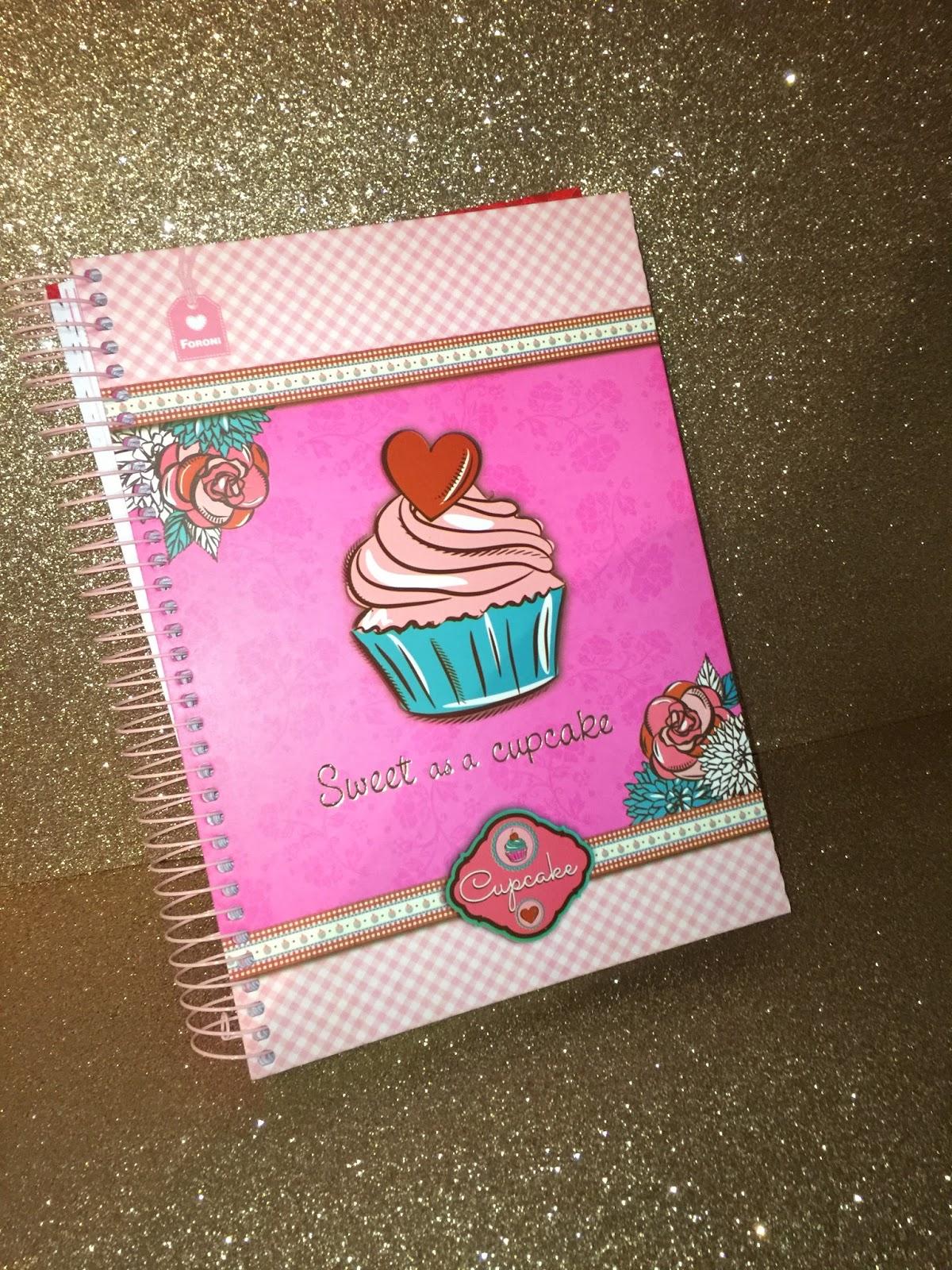 caderni cupcake foroni material escolar volta às aulas loja tudo e cia curitiba
