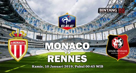 PREDIKSI SKOR MONACO VS RENNES 10 JANUARI 2019