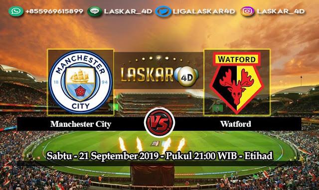 Prediksi Pertandingan Bola Manchester City vs Watford 21 September 2019