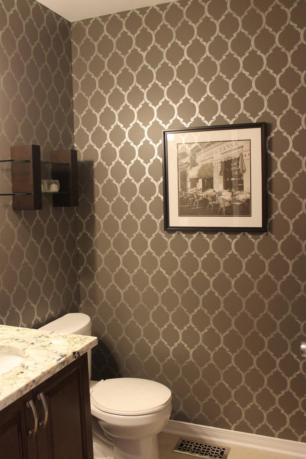 Km decor powder room reveal - Powder room wallpaper ideas ...