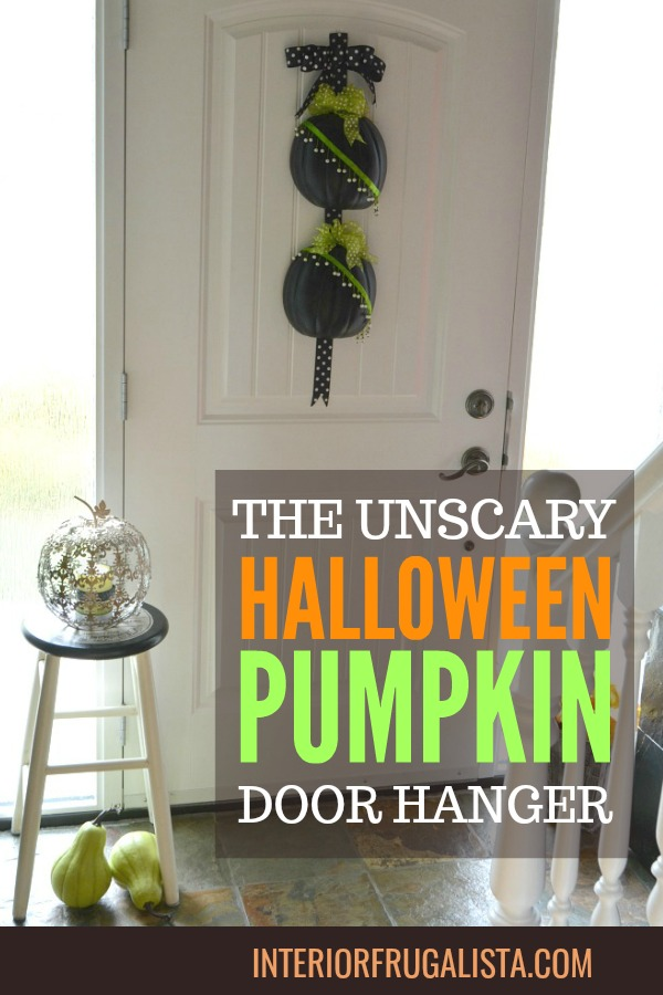 DIY Halloween Pumpkin Door Hanger