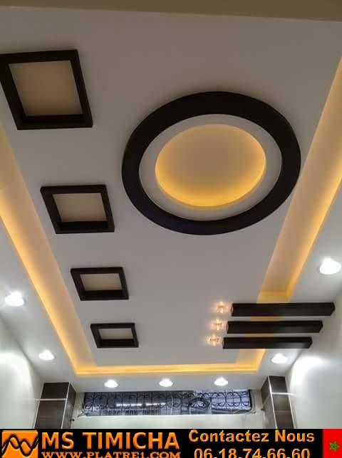 decoration salon platre marocain 2019