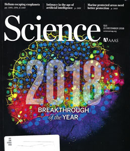 Science Magazine announces the breakthrough(s) of the year (Source: Science, Dec 21, 2018)