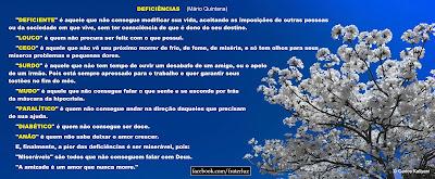 Poesia - Deficiências (Mário Quintana)