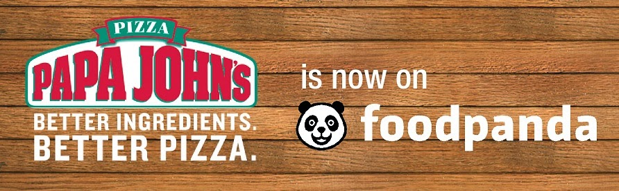 Papa John's is now with foodpanda