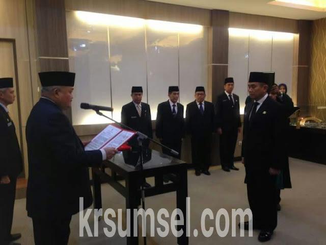 Gubernur Sumsel Lantik Dua Pejabat Eselon II