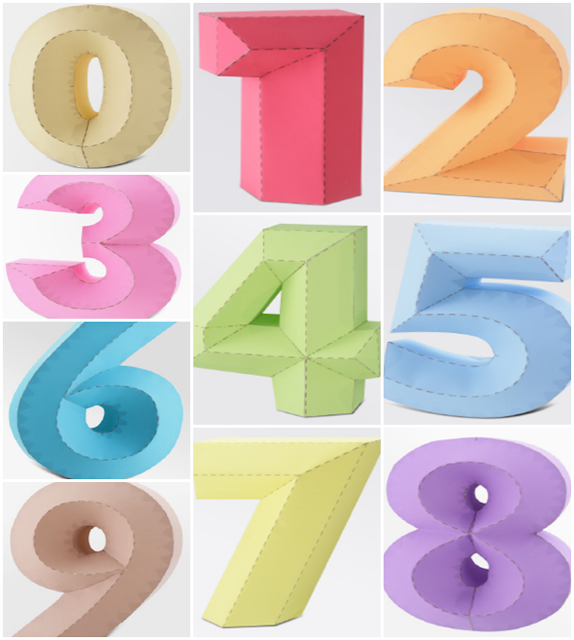 Números 3D (4D)