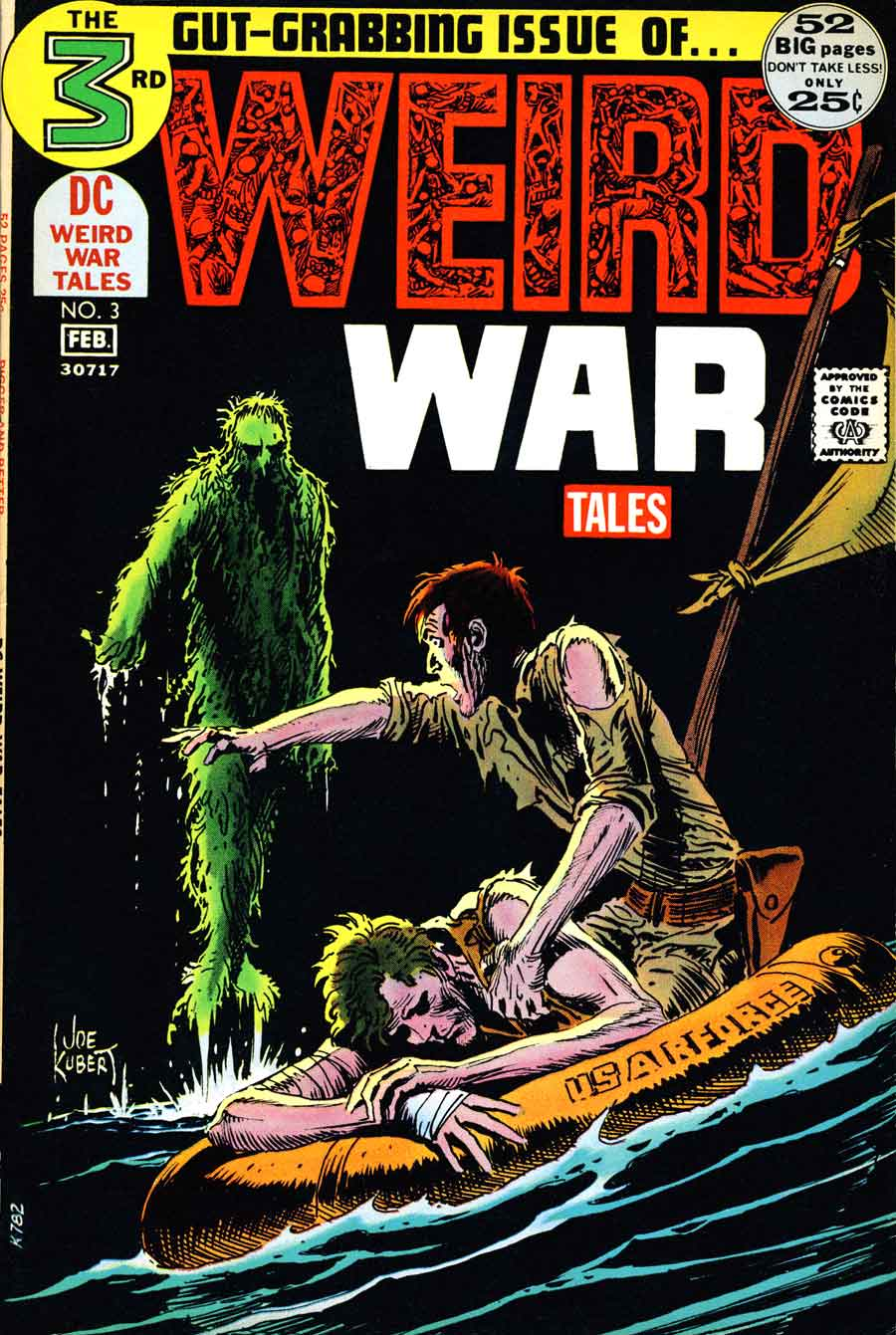 Weird War Tales v1 #3 dc bronze age comic book cover art by Joe Kubert
