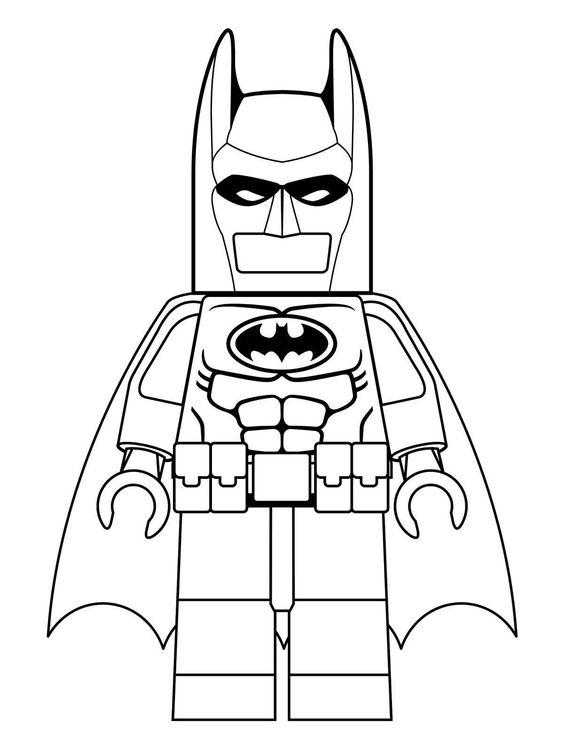 Tranh tô màu Lego người Dơi 0