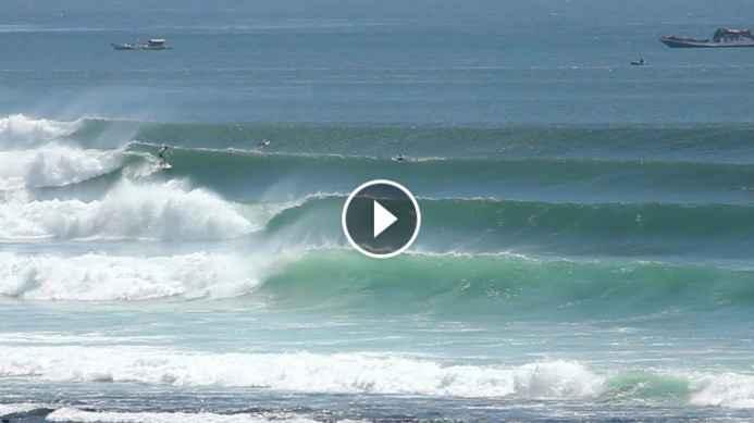 Low Tide Logger Waves At Impossibles - 7 September 2018