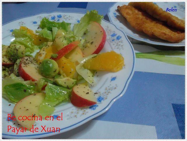Ensalada De Manzana, Aguacate Y Citricos