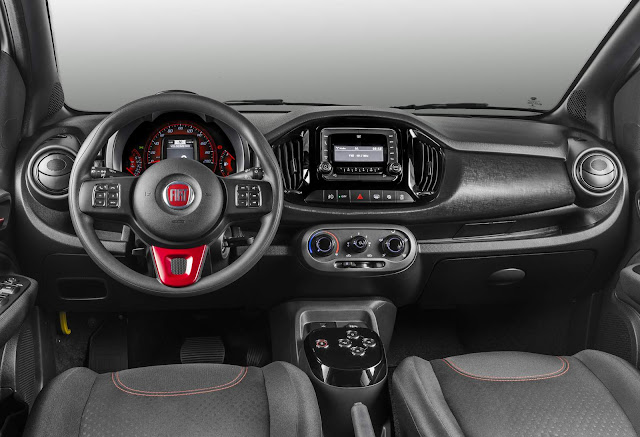 Novo Fiat Uno 2017 Sporting - interior