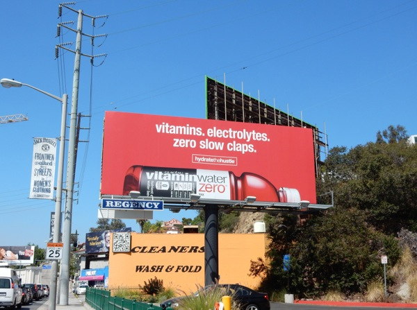Red Vitamin Water Hydrate the Hustle billboard