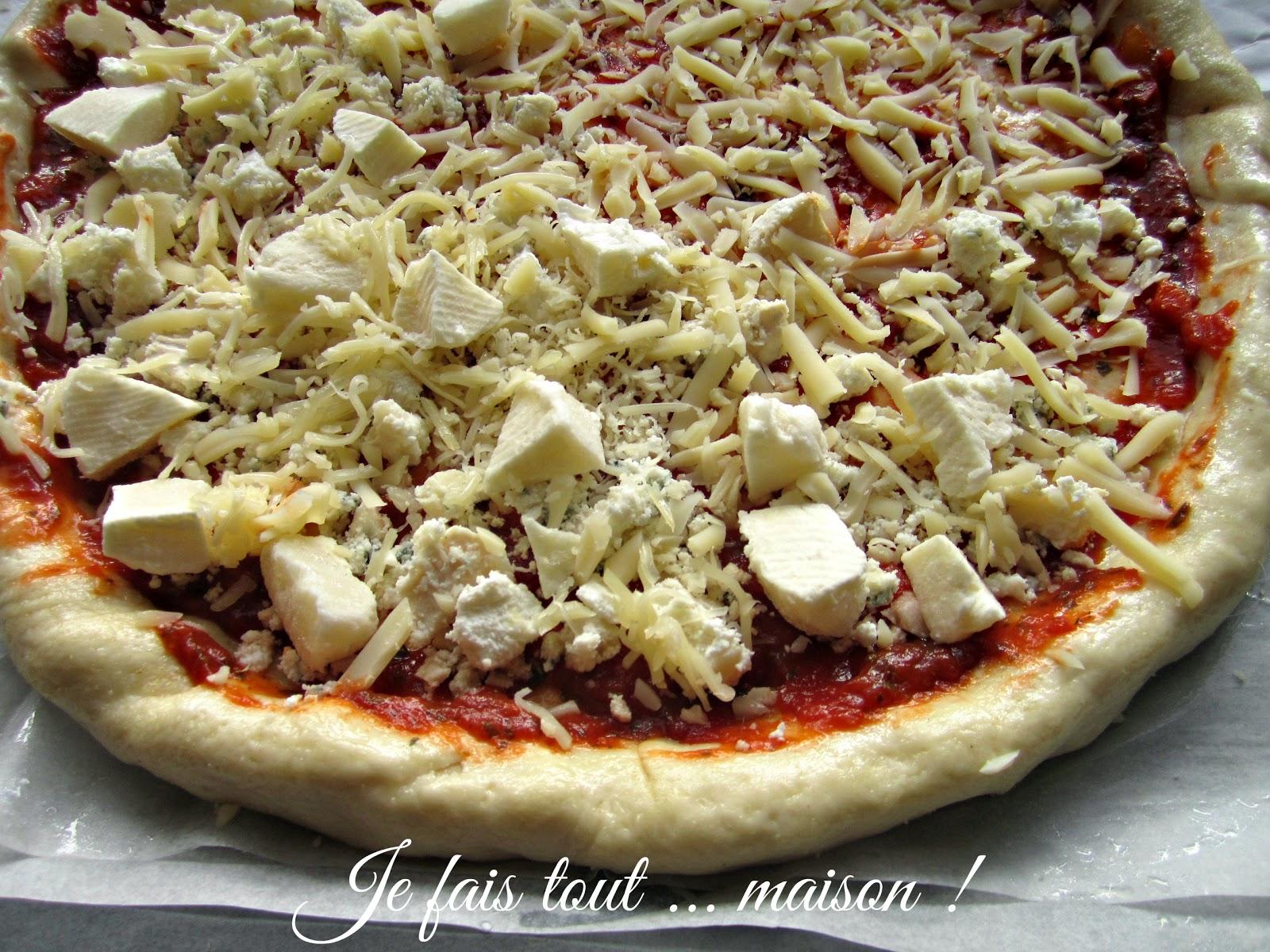 Pâte à pizza à l'eau gazeuse