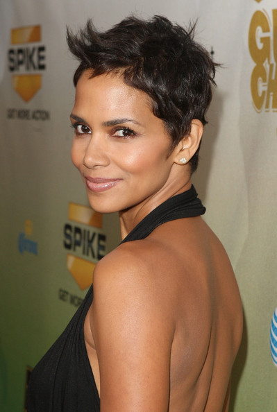 Wedding Updo Hairstyle Halle Berry Short Funky Pixie Hairstyle