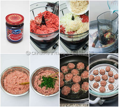 Meatballs with Cranberry Sauce Procedures