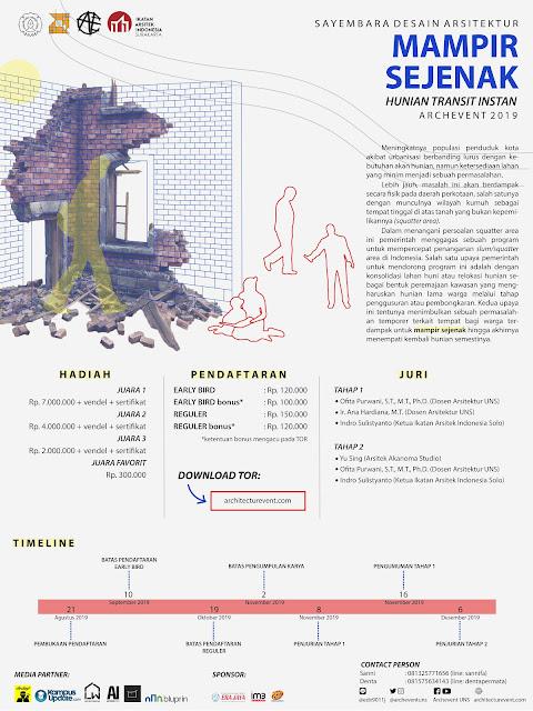 Sayembara Arsitektur Archevent Mampir Sejenak 2019