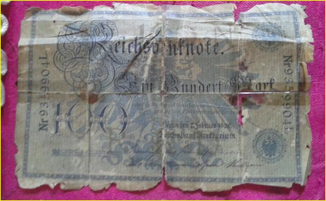 Gambar Uang Kertas Jaman Belanda keluaran Tahun 1908