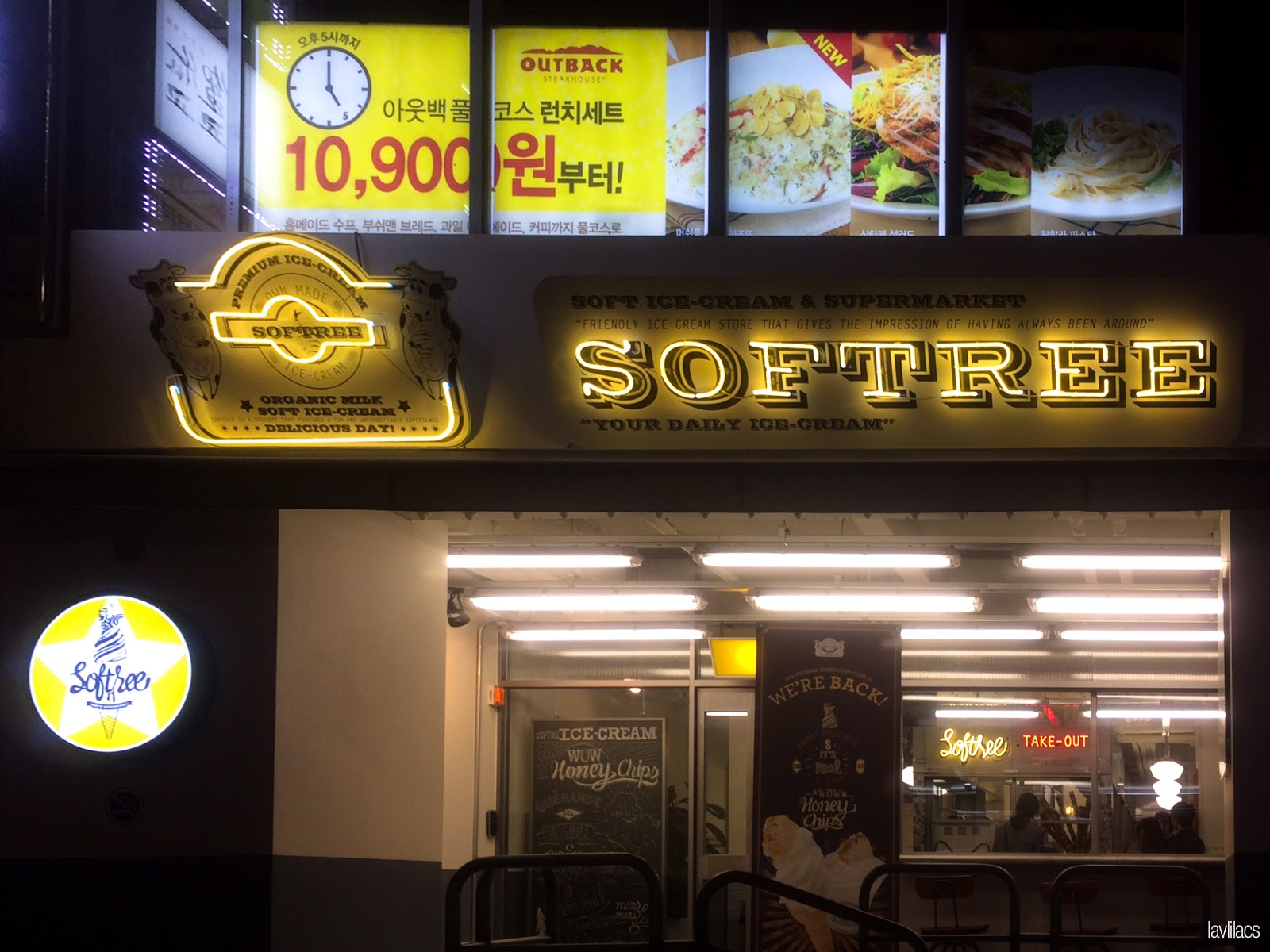 Seoul, Korea - Summer Study Abroad 2014 - Myeongdong Softree Ice Cream - Store front