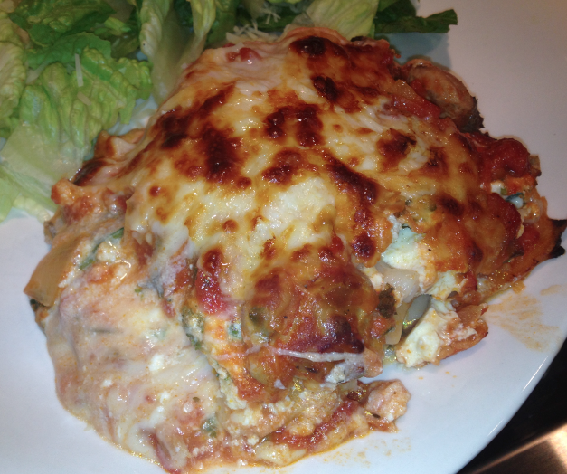 Mystery Lovers' Kitchen: Chicken-Kale Lasagna Recipe from