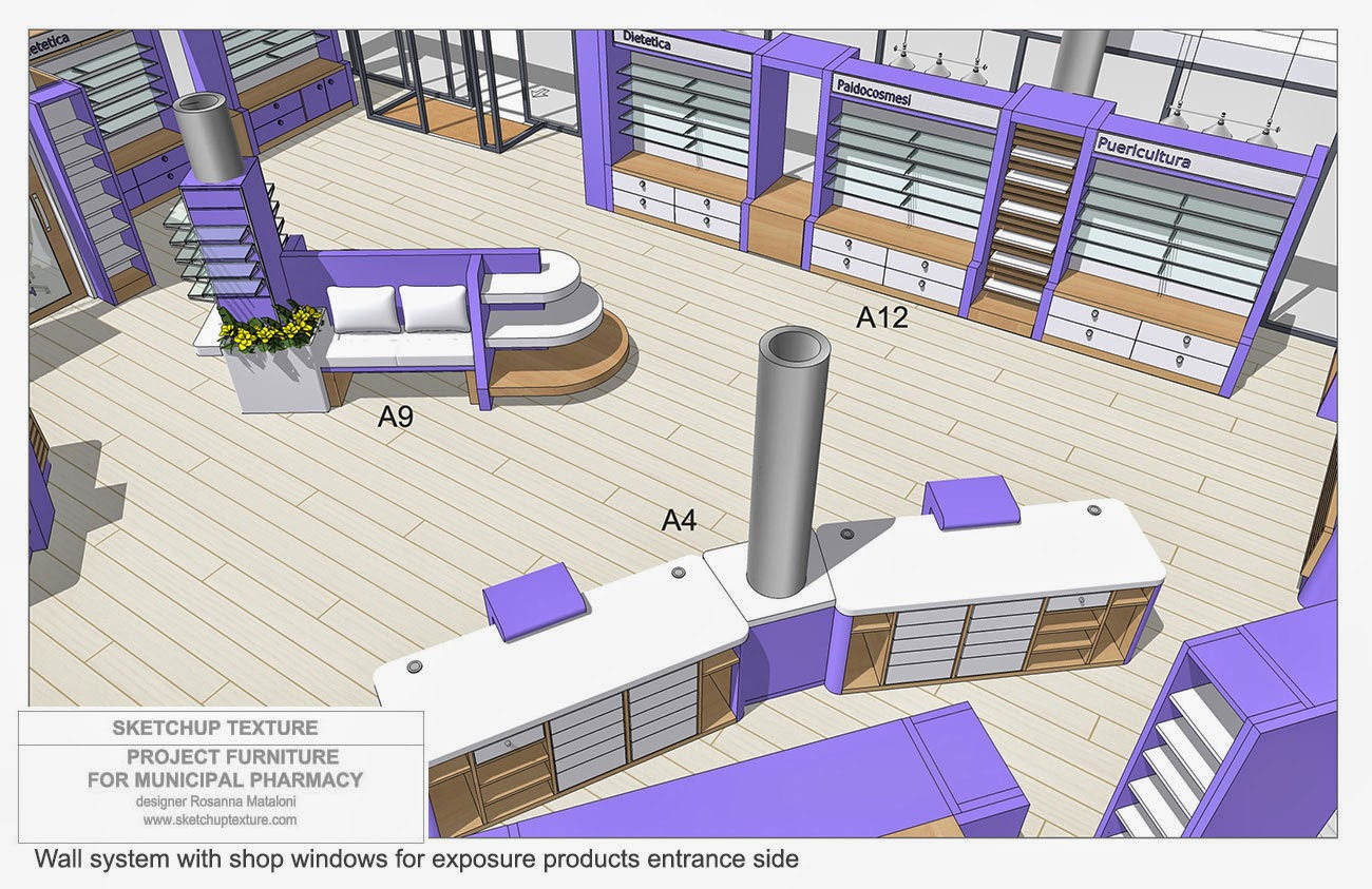 Sketchup Texture How Design Modern Pharmacy Amp