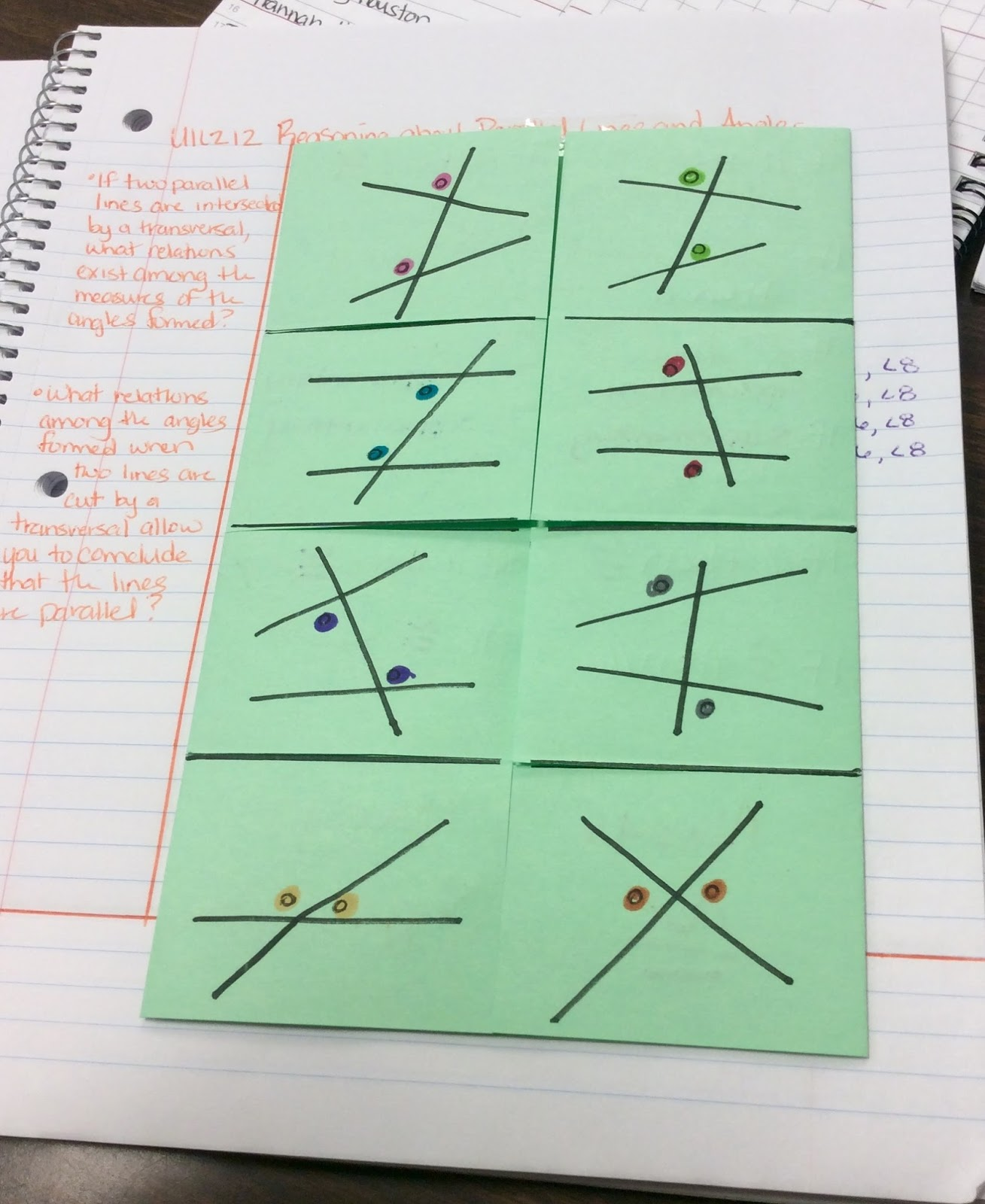 Kinesthetic Math Parallel Lines And Angles