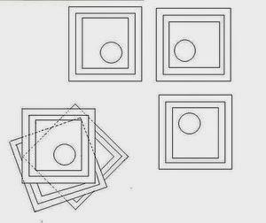 patrón falda de picos con cuadrados de tela