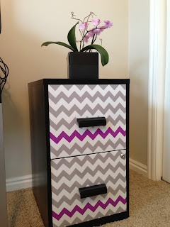 Cute Filing Cabinet Makeover