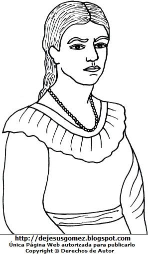 Imagen de María Parado de Bellido sin color para colorear. Dibujo de María Parado de Bellido de Jesus Gómez