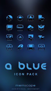 A-BLUE Icon Pack v3.6 Patch Full APK