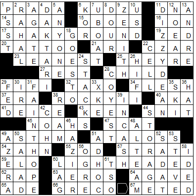 ad55b0d465c55 L.A.Times Crossword Corner  Wednesday May 23