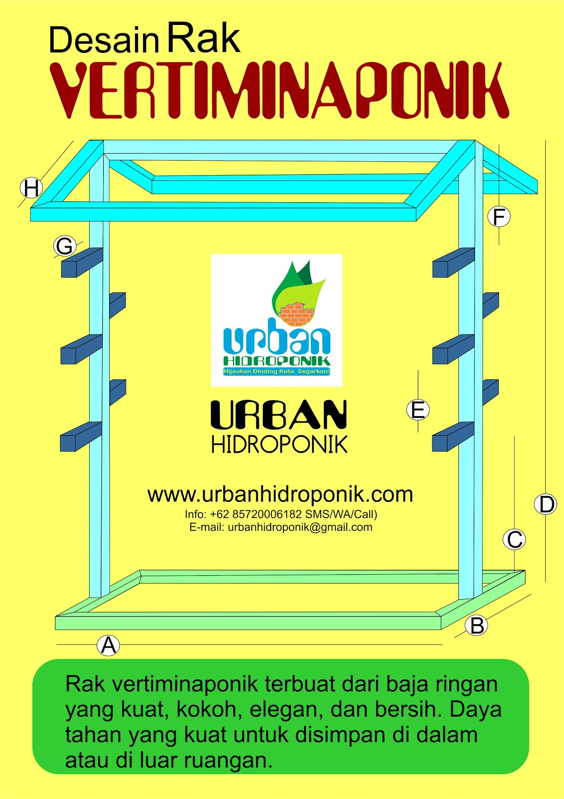 memilih gunting baja ringan kiat bahan rak hidroponik portable urban