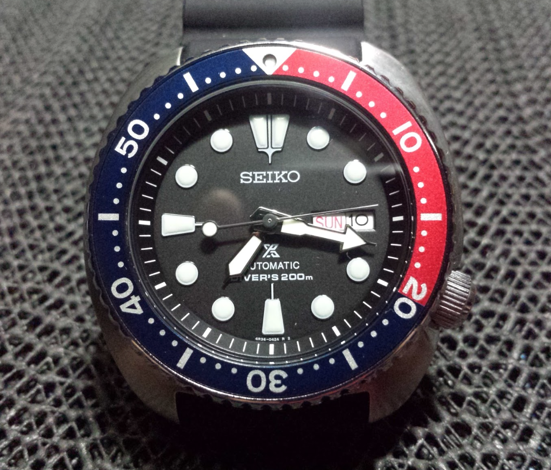 C-segment Wrist Watches: Seiko Turtle : Pepsi Vs Coke Vs PADI
