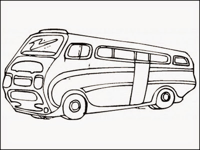 bus coloring pages preschool