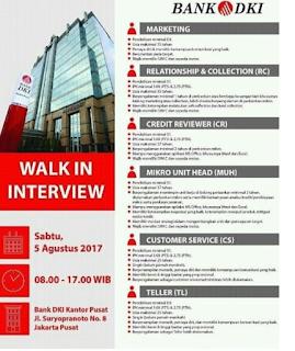 Lowongan Kerja BUMN Bank Terbaru BANK DKI 2017 [Walk In Interview]