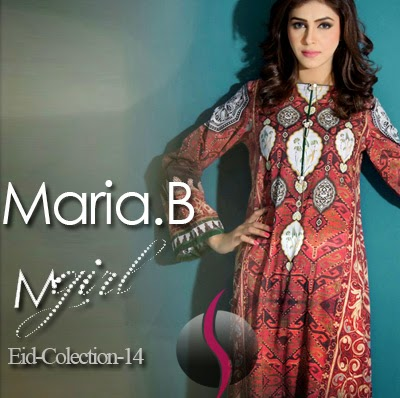 Maria B M-Girl Ready to Wear Eid Collection 2014-2015 with