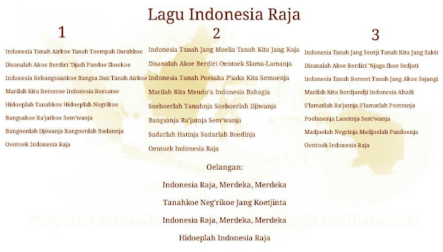 lirik lagu Indonesia Raya full version