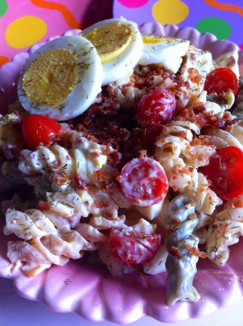 Bacon Tomato And Egg Pasta Salad With Greek Yogurt Dijon