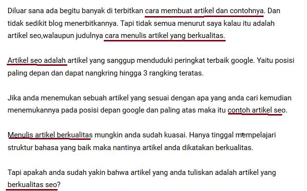 hasil suggest google untuk artikel berkualitas seo